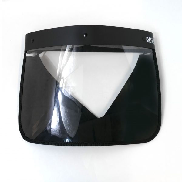 Black Unified Full Face Shield Straight forward